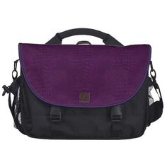 Laptop Bag Purple Leather Look