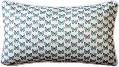 Small Turquoise Costa Rica Butterflies adorne this beautiful pillow. Perfect for any butterfly lover, turquoise inspired room, or a special little girl you may know. Butterfly Pillow, Butterfly Pattern, Throw Pillow Sets, Lumbar Pillow, Butterfly Decorations, Printed Linen, Outdoor Throw Pillows, Decorative Pillows, Costa Rica