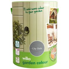 Shop for Wilko Garden Colour City Slate Exterior Paint at wilko - where we offer a range of home and leisure goods at great prices. Fence Paint Colours, Painted Garden Furniture, Smoke Painting, Sage Color, Stationery Craft, Dark Smoke, Garden Painting, Blue Wood, Garden Pictures