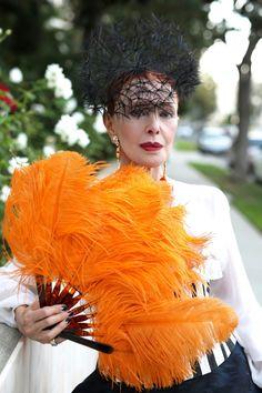 Daring with modest-burlesque, meets demure sophistication. Voila Madame; voila!
