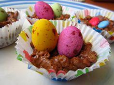 Rice Crispie Chocolate Nests