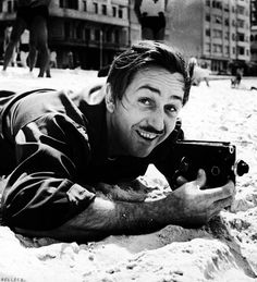 Walt Disney with his 8mm camera, 1941.