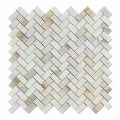 X sample piece of Calacatta Gold (Italian Calcutta) Marble Mini Herringbone Mosaic Tile, Honed. X sample piece of Calacatta Gold (Italian Calcutta) Marble Mini Herringbone Mosaic Tile, Polished. Stone Mosaic Tile, Marble Mosaic, Mosaic Tiles, Tile Art, Marble Tile Shower, Mosaic Art, Calacatta Gold Marble, Calcutta Marble, Revit