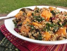 Dried cranberry and roasted sweet potato quinoa salad
