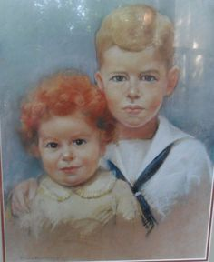 Painting by Isabelle Henderson Raleigh, NC 1926 of Robert and Archie McMillan