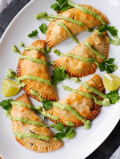 Wrapped in a whole wheat crust, potato empanadas with corn and goat cheese are a delicious Peruvian-inspired bite. Serve with avocado chimichurri.