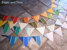 Sugar and Dots: Paint Chip Paper Bunting