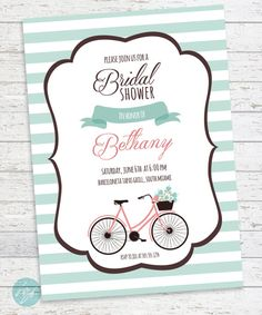 Bicycle bridal shower invitation couples shower bicycle invitation bicycle bridal shower invitation couples shower bicycle invitation tandem bike built for two printable digital file invitations couple and tandem filmwisefo Choice Image