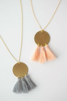 DIY Gold Tassel Necklace!