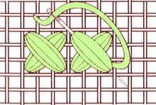 Ponto de cruz acolchoado - clique para ampliar
