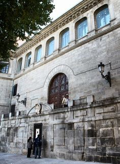 Entrada a la Capilla del Obispo en la Plaza de la Paja de Madrid