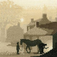 A collection of sepia toned counted cross stitch kits designs by Phil Smith for Heritage Crafts. Counted Cross Stitch Kits, Cross Stitch Embroidery, Cross Stitch Designs, Cross Stitch Patterns, Cross Stitch Silhouette, Heritage Crafts, Cross Stitch Pictures, Needlepoint, Needlework