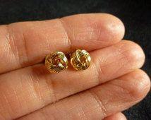 Gold Love Knot Earrings-Love Knot Earrings-Love Knot stud Earrings-Gold Knot Earrings-Everyday Earrings-Simple Gold Earrings-Momentusny