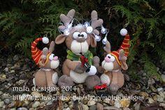 Elche,+Weihnachten+2014,+pdf+Gesamthäkelanleitung+de+mala+designs+por+DaWanda.com
