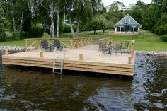 The Boathouse: a new definition to lakefront living! Lake Dock, Boat Dock, Lake Landscaping, Farm Pond, Haus Am See, Floating Dock, Lakefront Property, Lake Cabins, Backyard