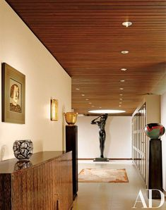 The entrance gallery | archdigest.com #ModernHomeDecorInteriorDesign