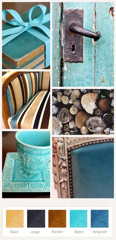 Tapissière à l'ancienne, restauration de meubles et marqueterie d'art. Upholstery Color Me Beautiful, Beautiful Color Combinations, Color Combos, Color Schemes Design, Marquise, Colour Pallette, Color Balance, Color Theory, Color Inspiration
