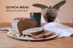 Quinoa bread - (1 - i added salt, pepper, thyme, etc. because it needed more flavor. Leave in for a little longer, its better more toasted and cut in thin slices)