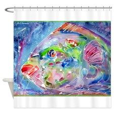 Fish! Tropical fish art! Shower Curtain for