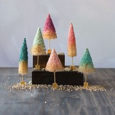 Uptown Pastel Bottle Brush Trees - Small from TheHolidayBarn.com