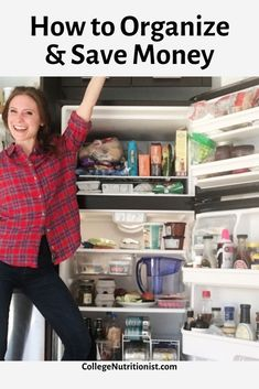 How to save money by organizing your fridge #collegenutritionist #mealprep #mealplan #weightloss #budget #moneysaving #organizationtips College Food Hacks, College Dorm Organization, College Meals, Budget Organization, Mayo Dressing, Glass Storage Containers, Mouth Watering Food, Living On A Budget, Ripe Avocado