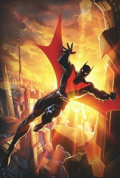 The sun rises on a new day in BATMAN BEYOND! With the threat of Brother Eye finally gone, Tim Drake is a man lost in time and without a mission. But now that he finally has the opportunity to explore Comics Anime, Dc Comics Art, Batman Universe, Comics Universe, Batman And Superman, Spiderman, Batman Arkham, Batman Poster, Batman Stuff
