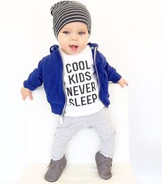 Cool kids never sleep graphic tee - Little Beans Clothing @littlebeans_co hipster baby, kids fashion, kids clothing.    @thehudsonlegend