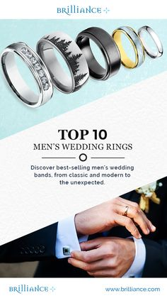 Discover Brilliance's Top 10 Men's Wedding Rings! For a limited time all of our men's rings are 25% OFF. Shop Now!