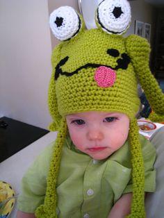 CROCHET PATTERN hat frog hat crochet baby by EasyPeasyGrandma, $3.95