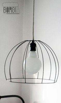 lampara colgante de alambre