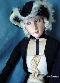 "35"" AO French Cloth Gerbs Male Court style Boudoir Bed Doll"