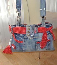 selbstgemachte jeanstasche mit tuch aufgeppept taschen pinterest jeanstasche t cher und. Black Bedroom Furniture Sets. Home Design Ideas