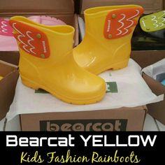 READY STOCK KIDS RAINBOOTS KODE : BC Yellow Size 15cm,16cm,18cm,22cm PRICE : Rp.210.000,- DETAIL SIZE (insole) : - Size 15cm >> setara size 24/25 - Size 16cm >> setara size 25/26 - Size 18cm >> setara size 29/30 - Size 22cm >> setara size 35  FOR ORDER : SMS/Whatsapp 087777111986 PIN BB 766a6420 Facebook : Mayorishop  #pusatsepatubootsanak #kidsrainboots #fashionrainboots #rainboots #bootshujan #sepatuantiair #sepatuhujan #bootshujan #sepatukaret #candyshoes #rubbershoes #sepatuanak… Kids Rain Boots, Rubber Rain Boots, Happy Shopping, Kids Fashion, Yellow, Cute, Shoes, Collection, Zapatos