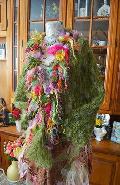 Cardigan crosetat cu carlionti de lana Spring Fairy(REZERVAT)