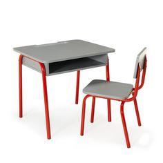 Bureau et chaise pour enfant ROUGE Rouge - Tubilo - Les bureaux enfants - Les meubles pour chambre enfant - Univers des enfants - Décoration d'intérieur - Alinéa