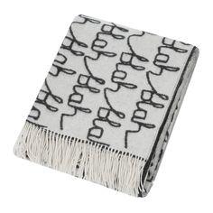 Buy Donna Wilson Blah Blah Lambswool Throw/Blanket - Black/White | Amara