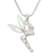 Amazon.com: Designer Inspired Tinkerbell Charm Pendant with Irridescent Gem Wings.: Jewelry
