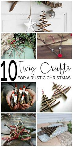 Twig crafts for a rustic Christmas