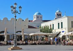 View of the main square with pavement cafes, Kos Town Greece Kos, Greece Islands, Chios, Mamma Mia, Greek Life, Travel Stuff, Greece Travel, Travel Around, Places Ive Been
