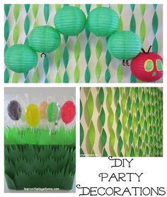 DIY Hungry Caterpillar Party Decorations from @Debs - Learn with Play @ home