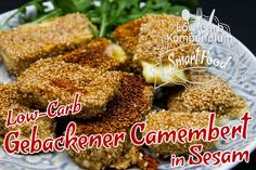 Low-Carb Gebackener Camembert in Sesam ist nicht nur knusprig und kross, sondern auch unfassbar schnell und einfach zubereitet.
