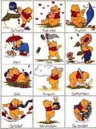Winnie de Pooh calendar