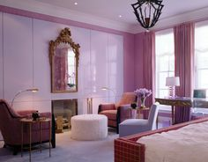 Meet Home Décor, Meet Jamie Drake Some people are born to make a difference. Jamie Drake was born to do both,. Purple Rooms, Pink Room, Architectural Digest, Jamie Drake, South Shore Decorating, Purple Interior, Interior Decorating, Interior Design, Interior Ideas