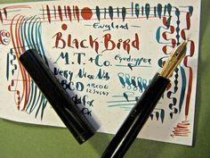 Mabie Todd Blackbird Flex 14k Nib Eyedropper BCHR Fountain Pen Flexible vtg Swan…