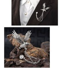Retro Animal Men's Brooch For Party Fashion Formal Suits Lapel Pins Brooch For Men Classic Male Alloy Brooch Corsage Accessories