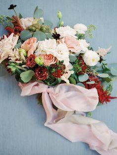 burgundy and blush bouquet - - photo Charity Maurer http://ruffledblog.com/stylish-arizona-wedding-with-secret-garden-vibes