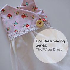 Wrap dresses are wonderful. They are easy to make. There are many ways they  can be adapted. They are great if you only have a small amount of fabric,  you can just use it for the bodice, like I did.  But best of all, they are very forgiving as far as sizing goes. If your  doll is wider, the bo