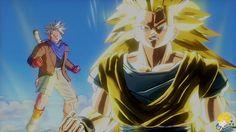 Dragon Ball Xenoverse (PS4):DBZanto/SSJ3 Goku Vs Majin Buu (Majin Buu Sa...