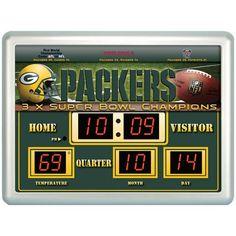 Green Bay Packers Time / Date / Temp. Scoreboard