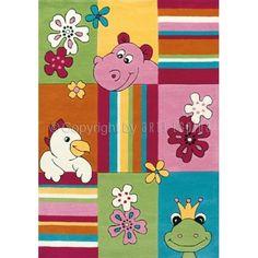 Happy Animals Rug by Arte Espina -Pink #kidsrugs #kidsbedroom